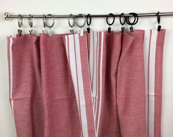 Cafe Curtains-Tea Towels Cafe Curtains-Country Cafe Curtains-Red Cafe Curtains-Cottage Chic Cafe Curtains-Ready to ship
