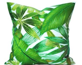 1 Palm pillow cover, cushion, decorative throw pillow, Palm tree pillow, accent pillow, outdoor pillow, pillow case