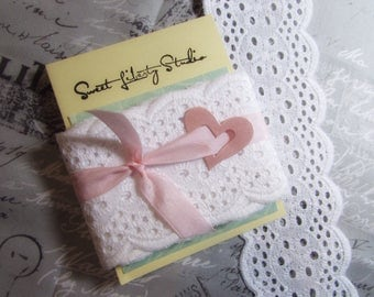 """White Eyelet Ribbon Lace  - Pretty Scalloped Edge - 2.5"""" by 2 Yards on Card - SLS13"""
