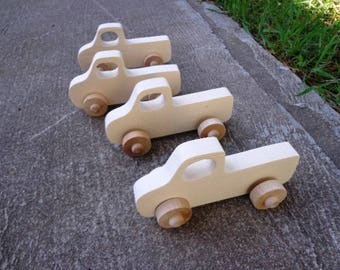 Truck Wooden Toys Kids Party Favors, Birthday Favor, Truck Party Favors, Push Toy, Kids Party Favor Toys, Wooden Truck Party Favors for Kids