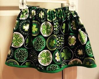 St. Patricks Day Shamrock skirt