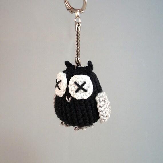 Small Crocheted Owl Keyring, Bag Charm