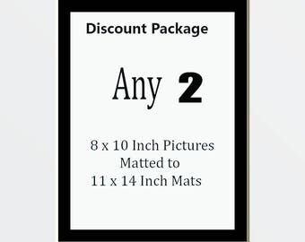 Discount Package for 2 8 x 10 Pictures Matted Into 2 11 x 14 White Mats