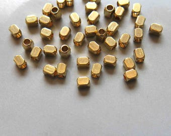 200pcs Raw Brass Rectangle With Rounded Corners Beads Spacer Beads 3.5x2.5mm - F371