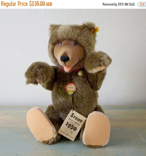 on sale vintage steiff teddy baby replica 1930 17 in t by phyndz. Black Bedroom Furniture Sets. Home Design Ideas