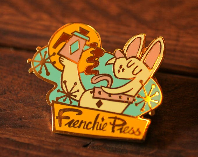 Frenchie Press - Hard Enamel Pin