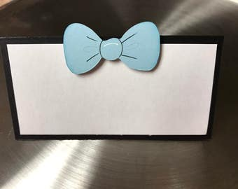 Mustache and Bowtie Food/Name Cards