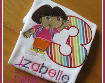 Personalized Dora the Explorer Birthday T-Shirt