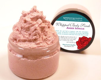 Sensual Whipped Sugar Scrub: AMBER, SPELLBOUND, INFATUATION etc. Pick your scent. Whipped body scrub, Womens gift