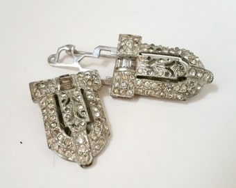 Coro Duette Art Deco Style Clips As Found Whoopsies