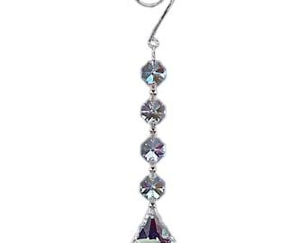 """7"""" Hanging Crystal Prisms Decor"""