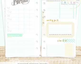 Websters Pages - Color Crush - Personal Planner Inserts - Lists to Love