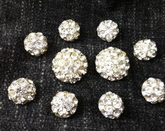 Rhinestone Buttons - Vintage Glamour In Two Sizes