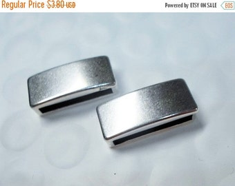 2 Flat 15mm Sterling Silver Bar Sliders