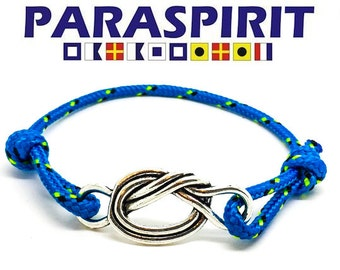 "Paraspirit ""Forget Me Knot"" Adjustable Nautical Rope Bracelet"