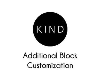 Add Customization to Most Block Templates
