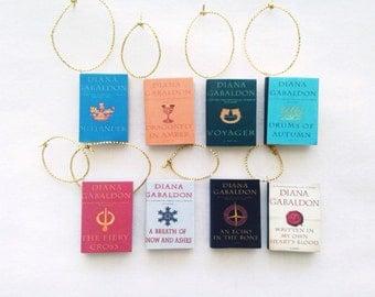 Handmade Outlander Ornament Set , Diana Gabaldon Book Ornaments, Mini Book Ornaments, All EIGHT Books