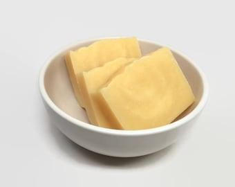 lemongrass essential oil soap, uncolored soap, cold process soap, shea butter soap