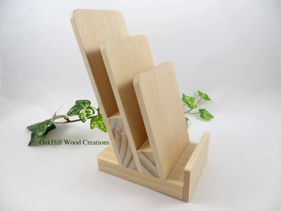 Display Stand 3 Tier, Rack Card Stand, Brochure Holder, Wooden ...