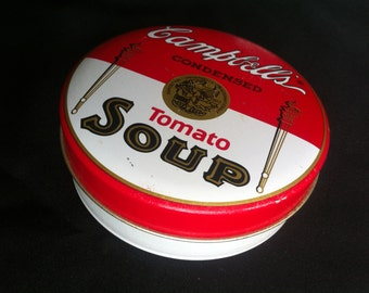 A Round Campbell's Condensed Tomato Soup Tin Bristolware 1994 Campbell's Soup Co.
