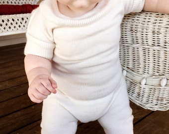 White Sweater Romper