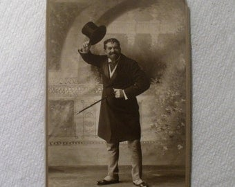 Antique Cabinet Card / Entertainer Ralph Delmose