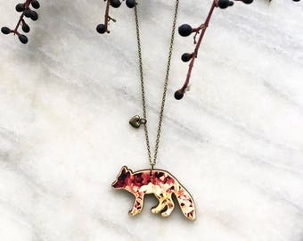 Red fox - Necklace