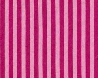 BTY Paris Bebe RASPBERRY STRIPE Vintage 2006 Fabric