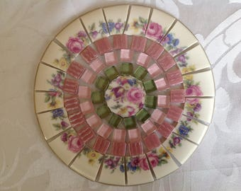 China mosaic TILES~~~Muted Shades of Greens Rose and Florals~~~SWEET~~Set # 2