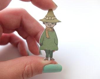 Snufkin moomin brooch