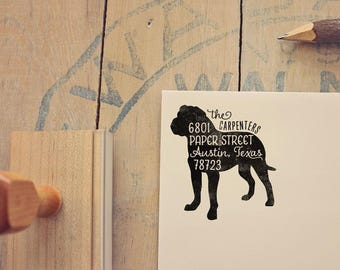 Rottweiler Address Stamp - Dog Return Address Stamp - Dog Lover Gift - Rubber Stamp - Personalized Pet Address Stamp