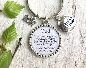 Father-of-the-Bride Gift from Bride Father-of-the-Bride Keychain Wedding Gift for Dad Parents of the Bride Wedding Gift Ideas for Dad