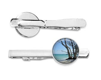 Tree By The Sea Cuff Links or Tie Clip