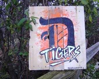Detroit Tigers-Pallet Art-hand made