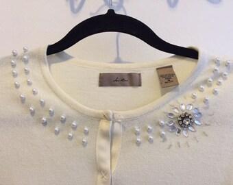 Pearl & Crystal Sweater