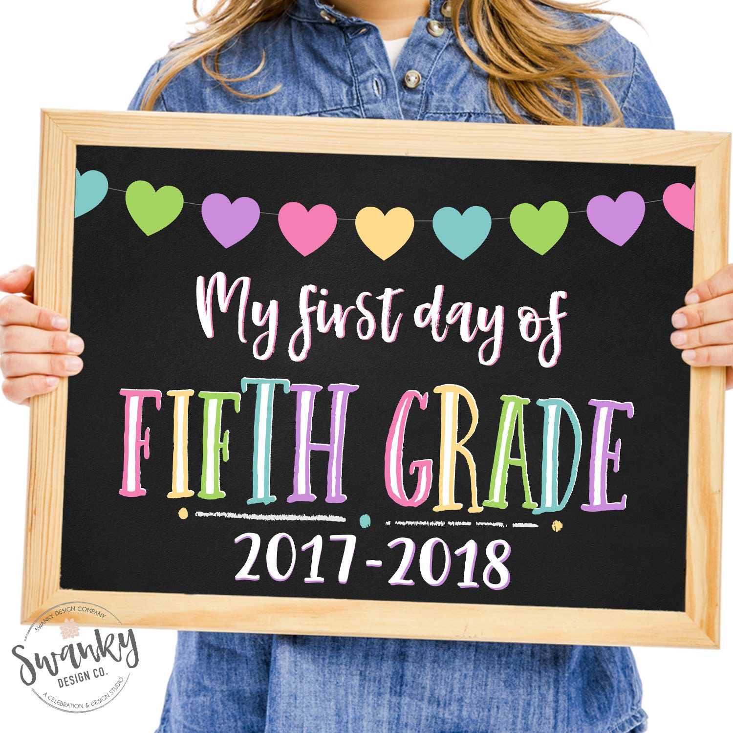 First Day of Fifth Grade Printable First Day School Sign