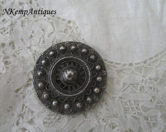 Antique silver buckle