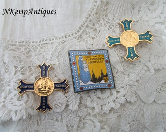 Religious brooch x 3