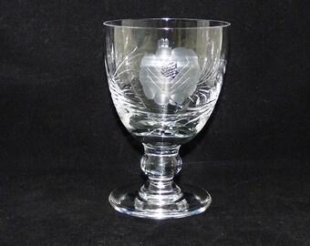 Crystal wijn Goblet Hand geëtst, bloemdessin, bolvormige stam, geëtst glas wijn, schakelt u glas, kristal, leiden Roemer, glaswerk, Barware