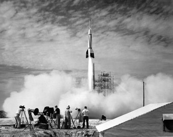 Launch of the first rocket from Cape Canaveral, Florida: the Bumper 8, NASA, Space Rocket Photo