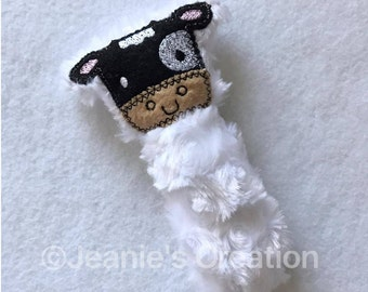 Moo moo Cow rattle / animal rattle / moo moo toy / moo moo cow softie / animal toy / baby toy
