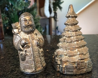 International Silver Company Christmas Salt and Pepper Shakers