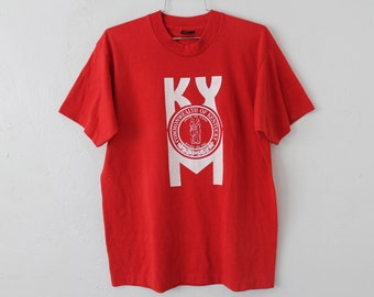 LARGE Vintage 1980s Commonwealth of Kentucky Graphic T-Shirt