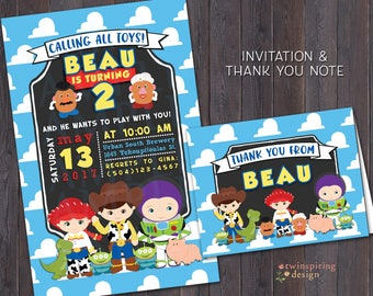 Toy Story Cuties Birthday Invitations with Envelopes
