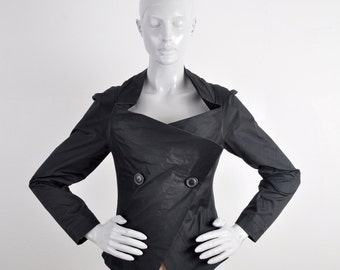 1990 Vivienne Westwood Anglomania Crumbcatcher Victorian Fitted Jacket Noir Boudoir Punk