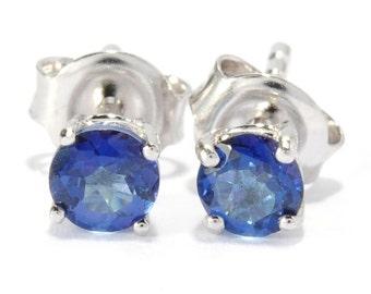 Sterling Silver 0.65ctw Blue Topaz Studs Earrings
