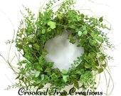 Spring Wreath, Summer Wreath, Leaf Wreath, All Seasons Wreath, Wispy Wreath, Green Wreath, Floral Décor, Spring Wreaths, Woodland Wreath