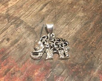 925 Silver Elephant Pendant