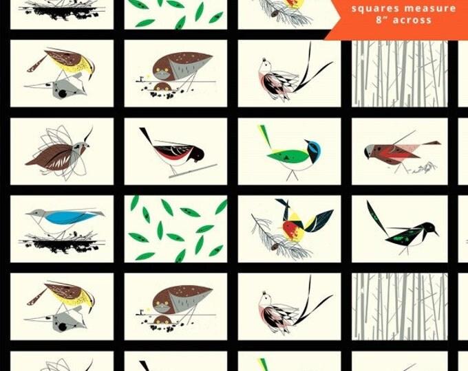 Western Birds Patch- Organic Cotton Fabric - Charley Harper Western Birds for Birch Fabrics