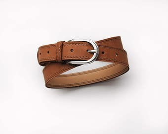 Brown leather belt, leather belt for women, ALL SIZES